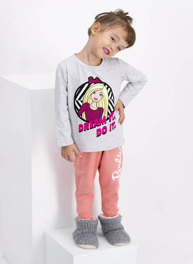 Barbie Pijama Takım Beyaz